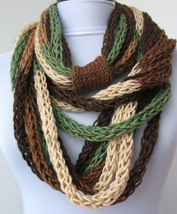 Scarf necklace - loop scarf - infinity scarf - neck warmer - hand ...