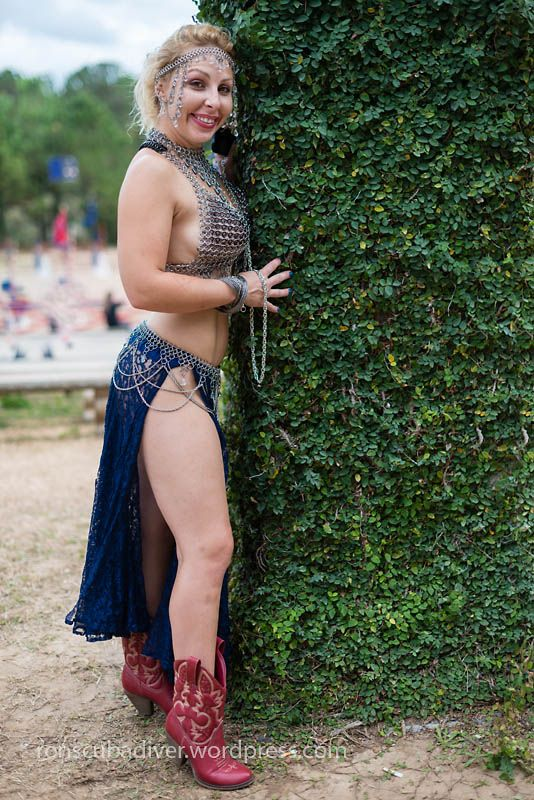 Woman in Chainmail and Cowboy Boots | Festivals, Cowboys and Wild life