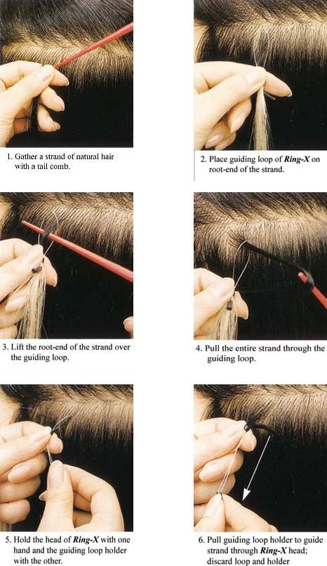 Micro Ring Hair Extensions Apply Hair Extension Pinterest