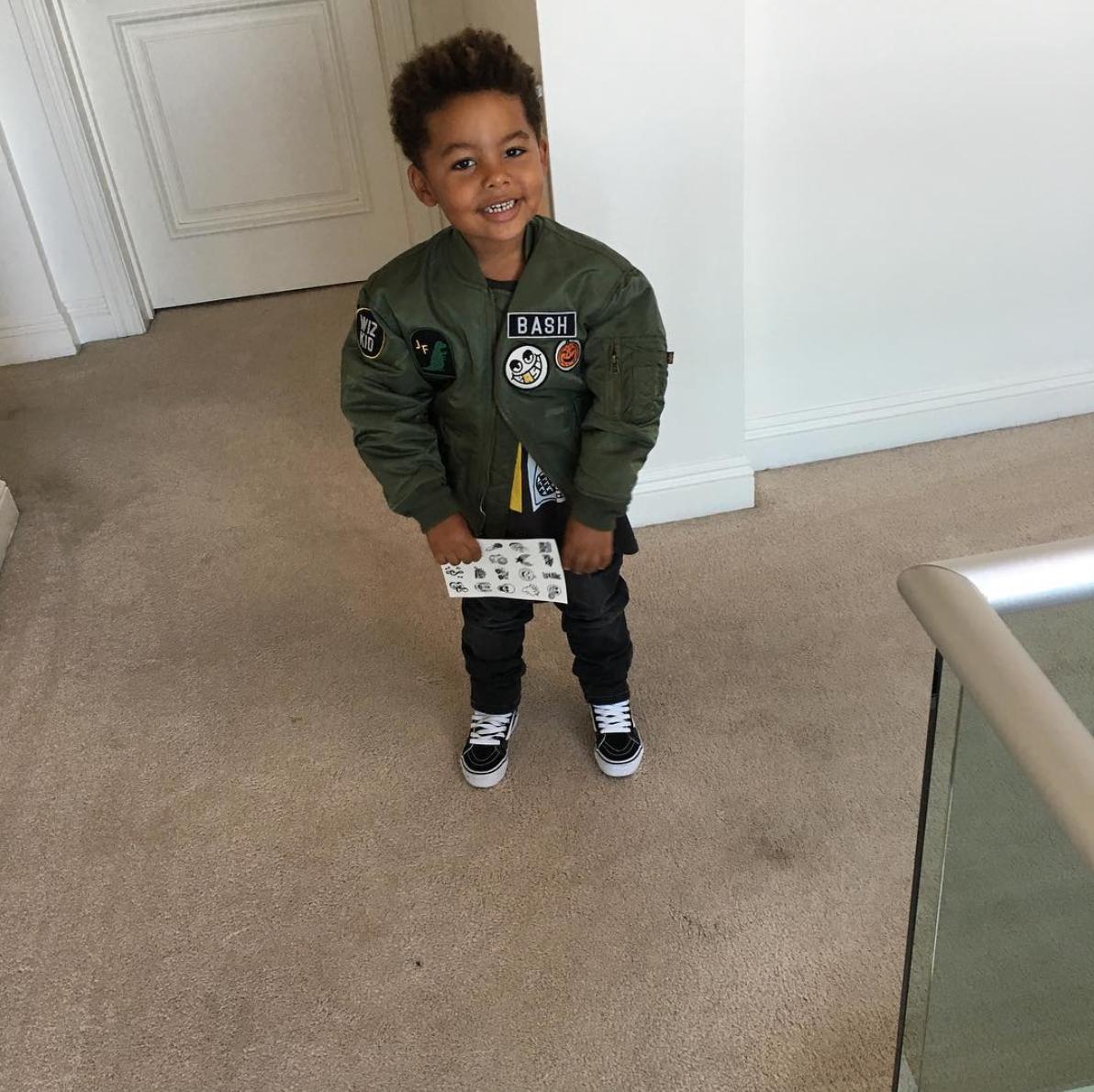 Wiz Khalifa's son, Sebastian Taylor Thomaz rocks his