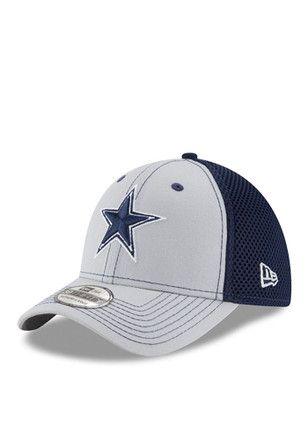 7a580bffc35a5 Dallas Cowboys Mens Grey Team Front Neo 39THIRTY Flex Hat