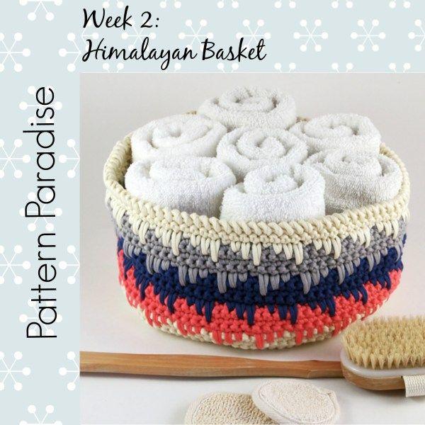 Himalayan Basket: FREE crochet basket pattern | örgü çantalar ...
