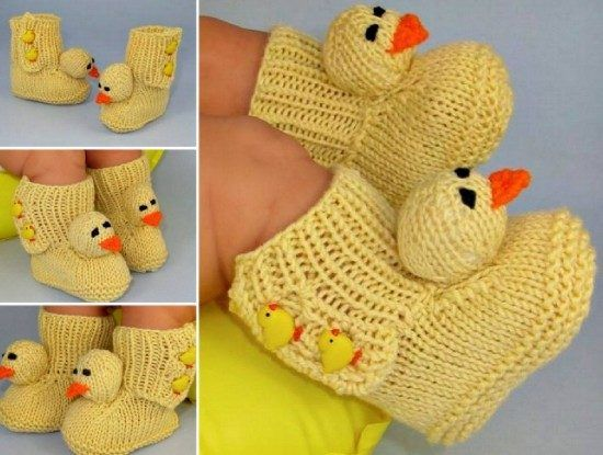 Knitted Duck Booties Pattern Is Super Cute Corner News And Ducks