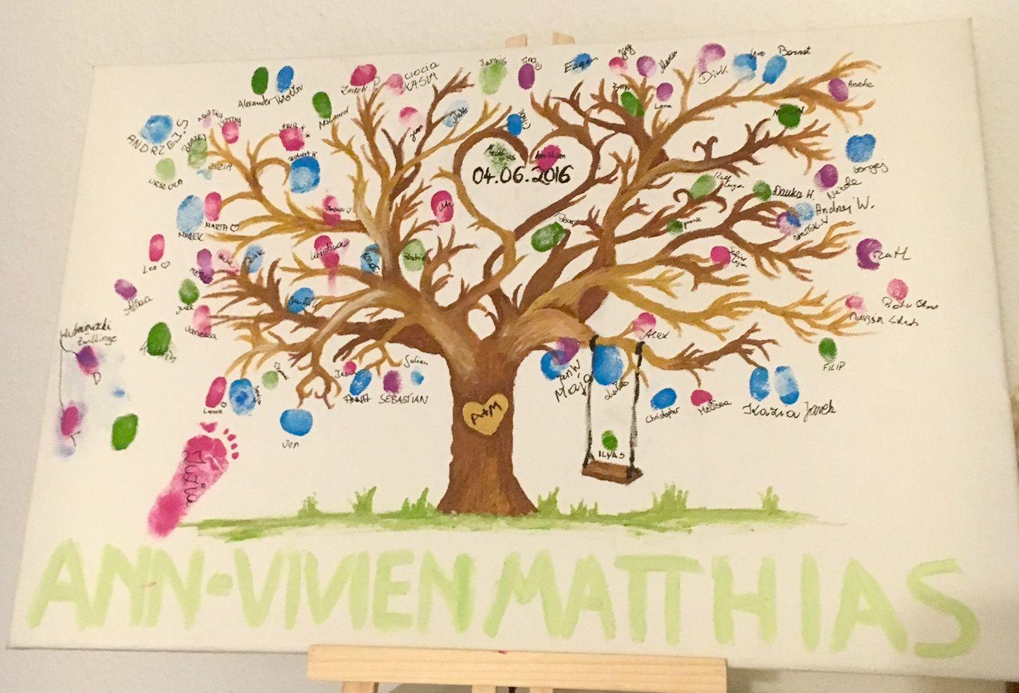 Weddingtree wedding tree hochzeitsbaum hochzeit heiraten leinwand diy baum anleitung - Leinwand zum malen ...