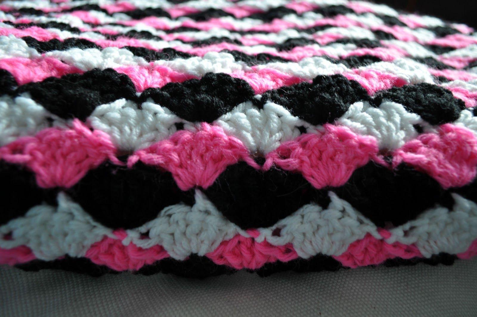 ChirpinBirdie: Simple Shell Blanket Free Crochet Pattern | Blanket ...
