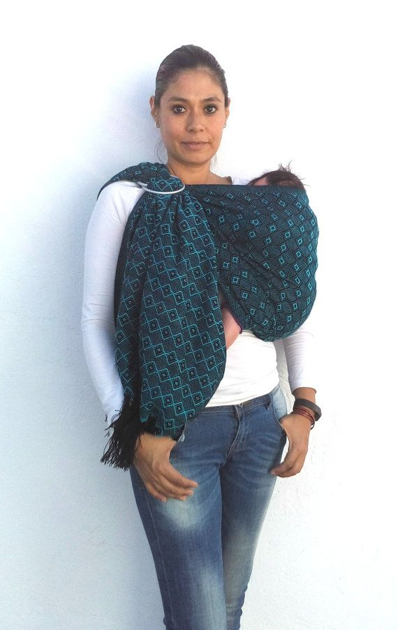 Baby carrier wrap mexican rebozo sling Acrylic Fiber by BabyTrapoz