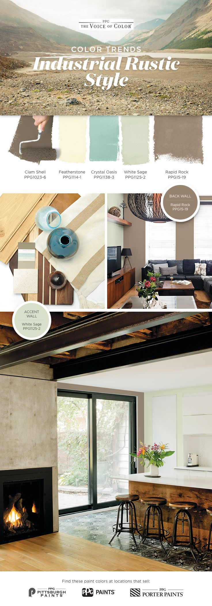 industrial rustic style assemble the best of the new and on industrial farmhouse paint colors id=98537