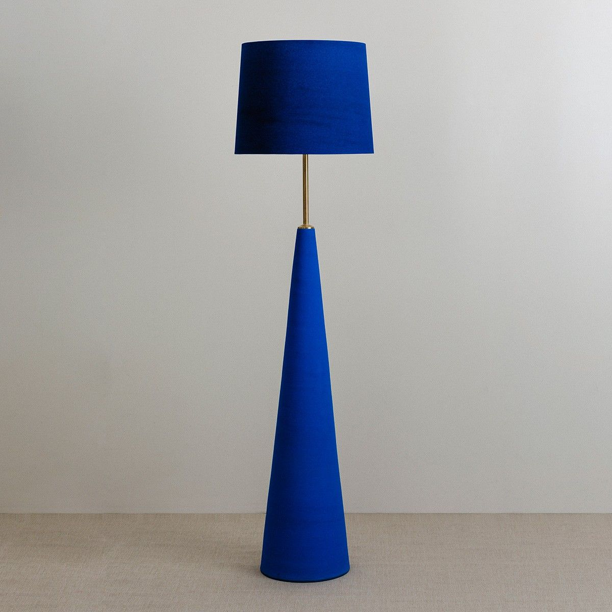 Sinatra Floor Lamp With Navy Blue Aspen Shade Blue Floor Lamps