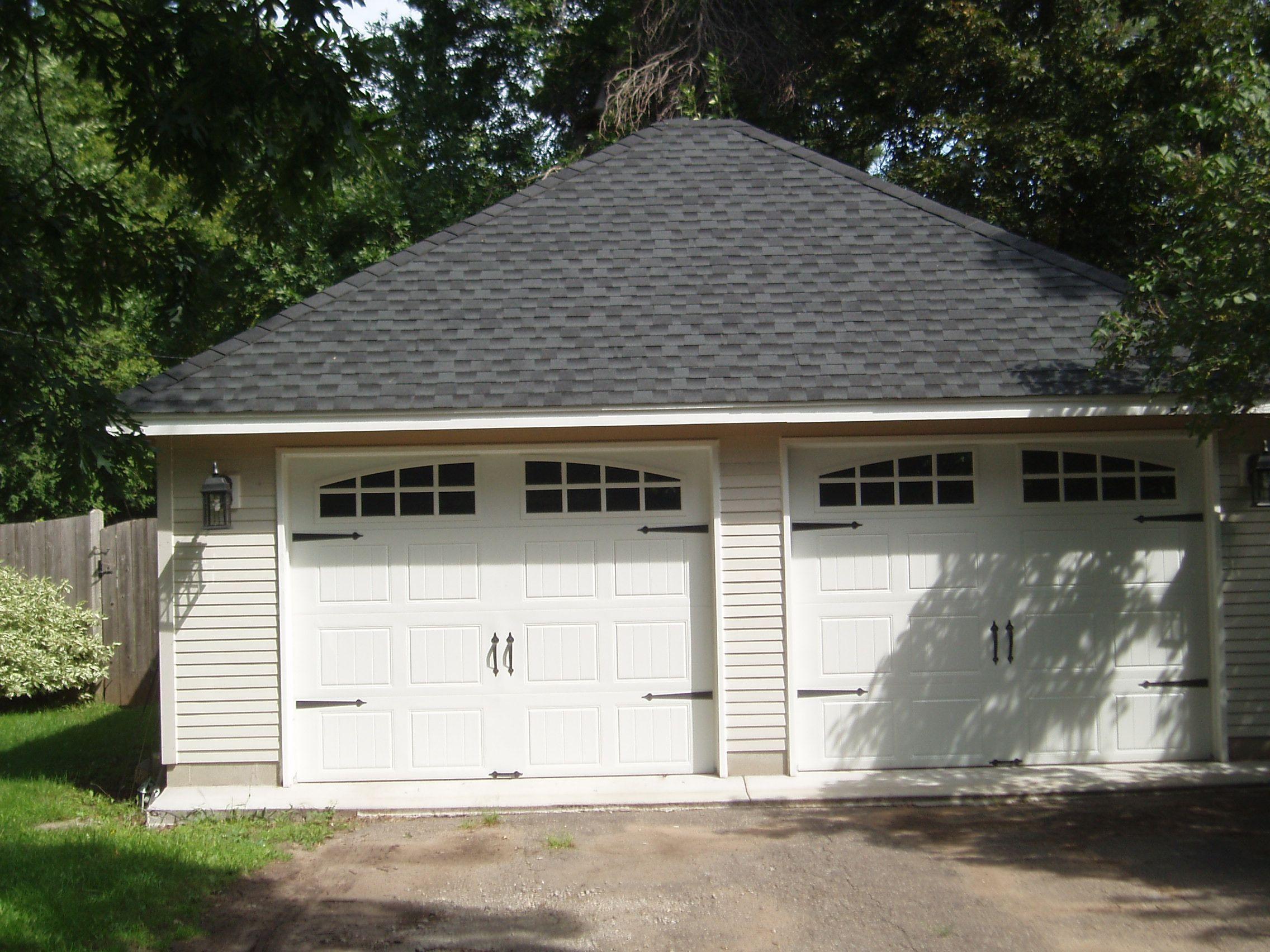 Best Detached 2 Car Garage 2016 Standard Roof Pitch Sussel 400 x 300