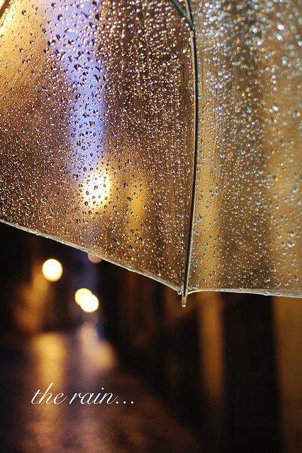 On the rain...
