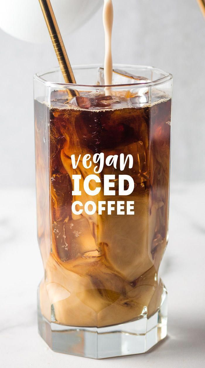 Vegan Iced Coffee - Overnight cold brew method for a deep, rich flavor and low acidity! Recipes for vanilla syrup and chocolate syrup to make mocha coffee also included!  via @karissasvegankitchen