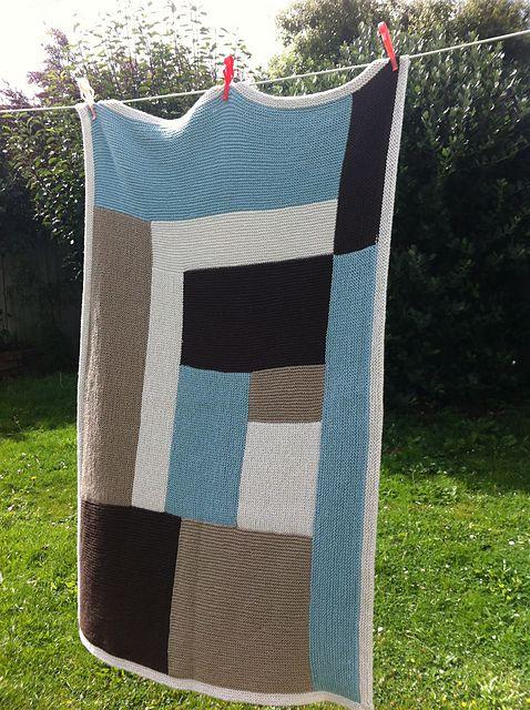 Moderne Log Cabin Baby Blanket Crochet Blanket Patterns
