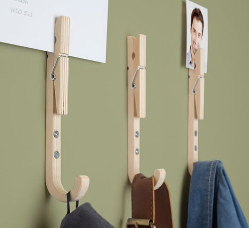 Inspired By The Classic Wooden Clothes Peg, These Hooks Can Manage Just  About Anything From Your Keys To Coats And Bags And Also Wrangle Your Mail  At The ...