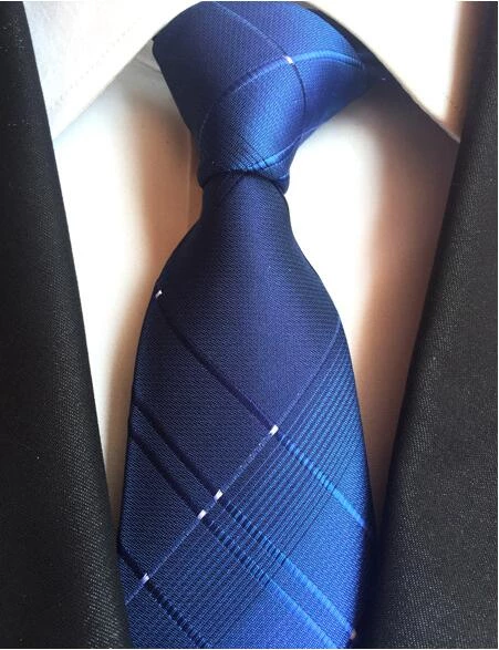 Classic Mens Tie Black White Geometric Silk Jacquard Woven Necktie Set SN-1466
