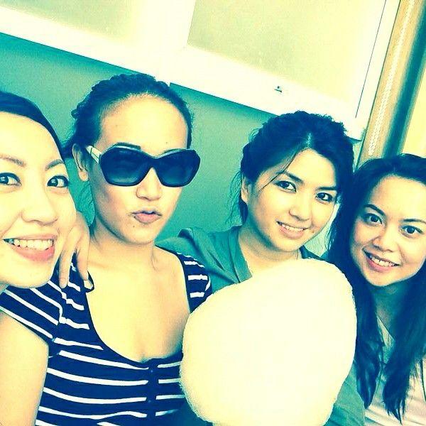 Shirokuma...snowball afogatto with cotton candy..