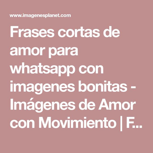 Frasesamor Frases Bonitas De Amor Cortas Para Whatsapp