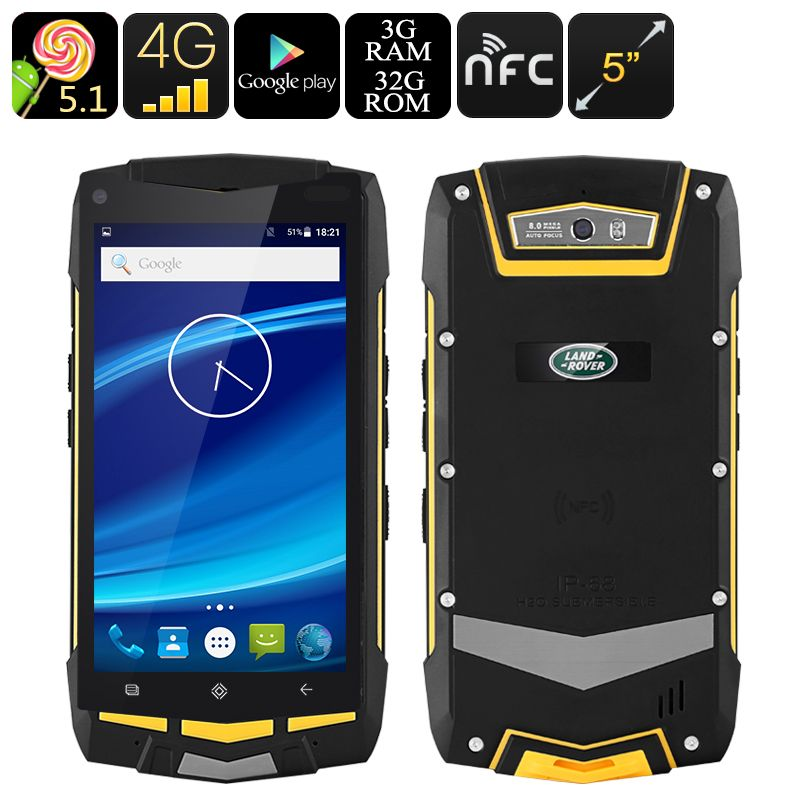 5 Inch Rugged Android Smartphone - Quad-Core CPU, 3GB RAM, 4G, Dual - best of google play
