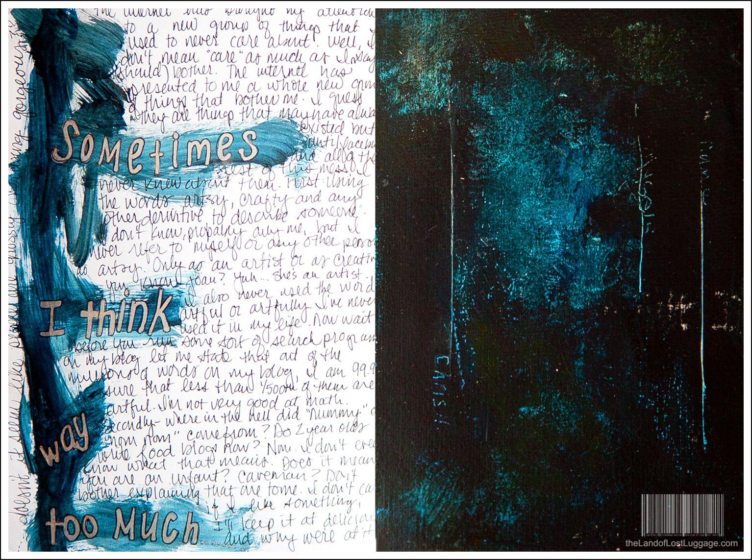 Distressed art journal awesomeness