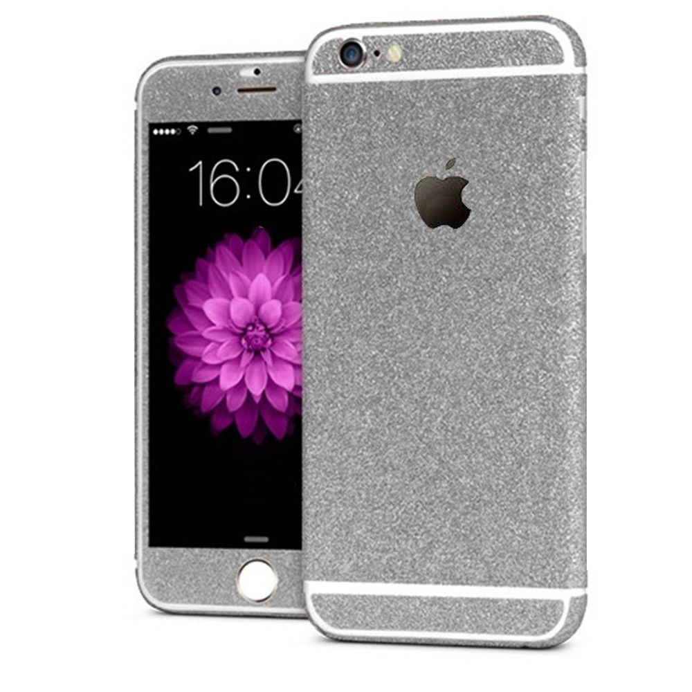 'All Blinged Out' Full Body Protective Glitter Decal Phone Skin (Silver)