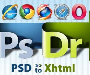 PSD to HTML conversion service.