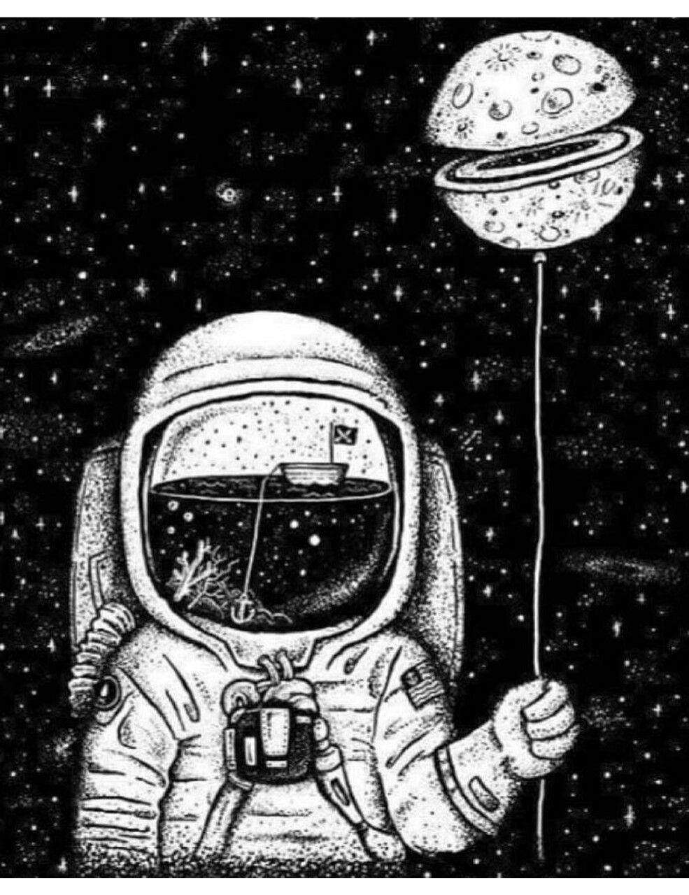 Trippy Outer Space Background Jllsly Astronaut Art