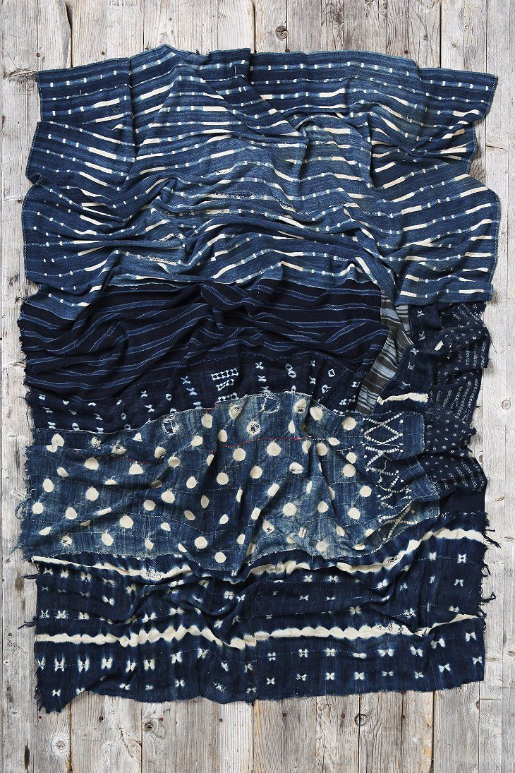Vintage Patched-Indigo Throw Blanket - Urban Outfitters