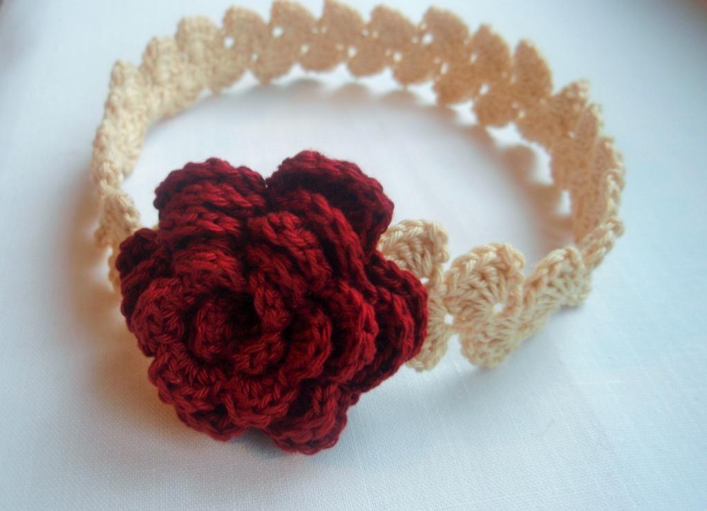 4 Name Crocheting Crochet Headband With Rose Stuff To Share