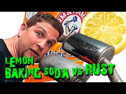 Baking Soda and Lemon Juice for Rust Removal - YouTube
