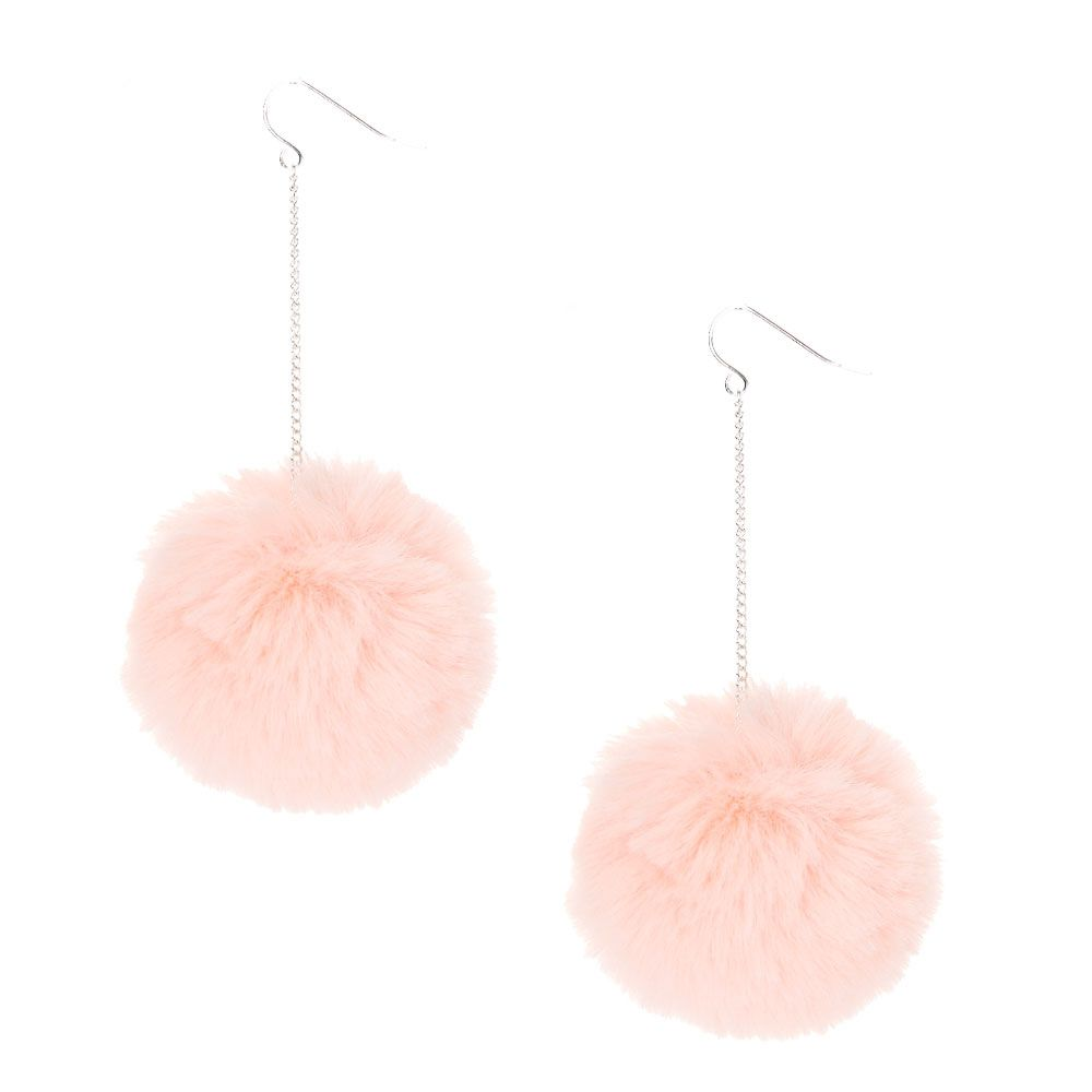 29af9378f Pink Pom Pom Drop Earrings | Style inspiration | Earrings, Jewelry ...