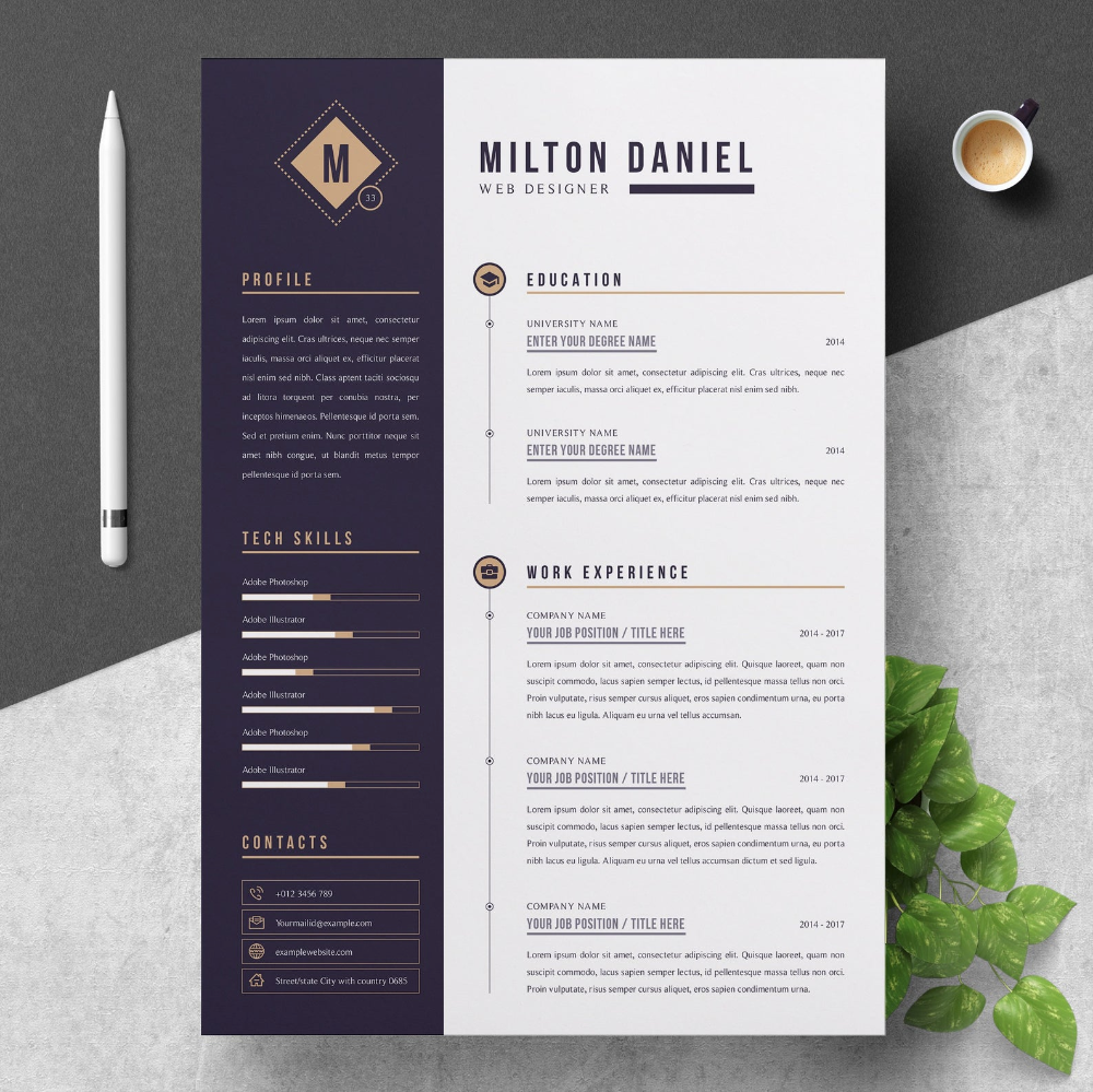 Professional Resume Cv Template Etsy In 2020 Cv Template Professional Resume Resume Templates