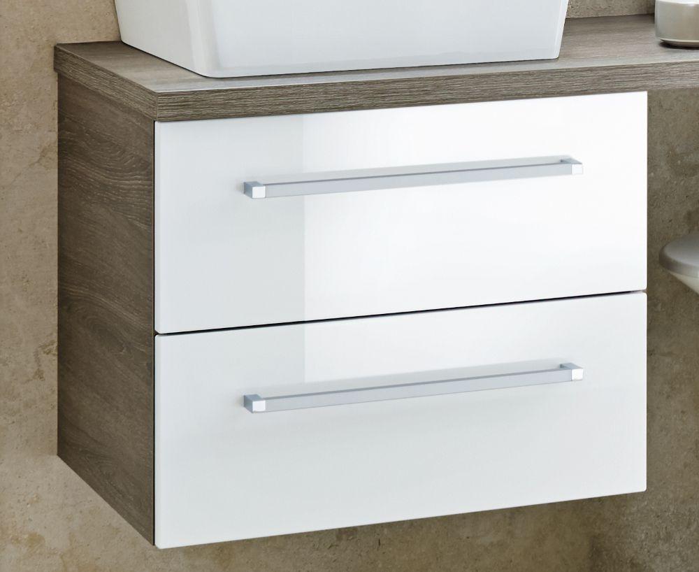Lanzet Q4-Fit Waschtischunterschrank 60 2S, Weiß/Eiche Maron Jetzt ...