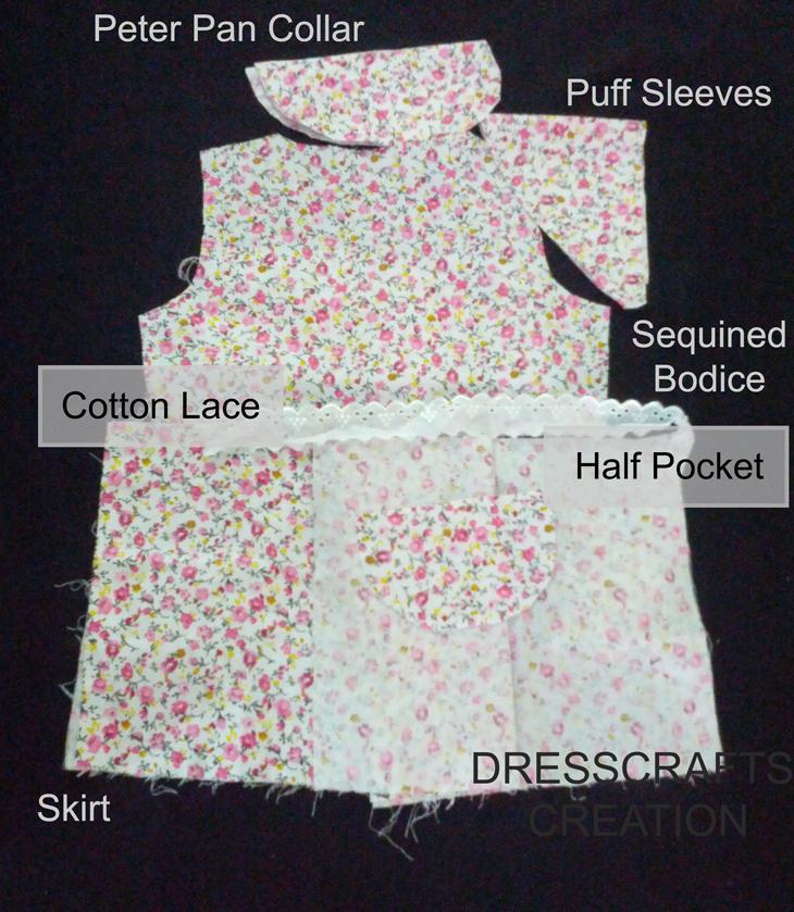 840c44937 Basic Pattern - Floral Pomp Baby Frock
