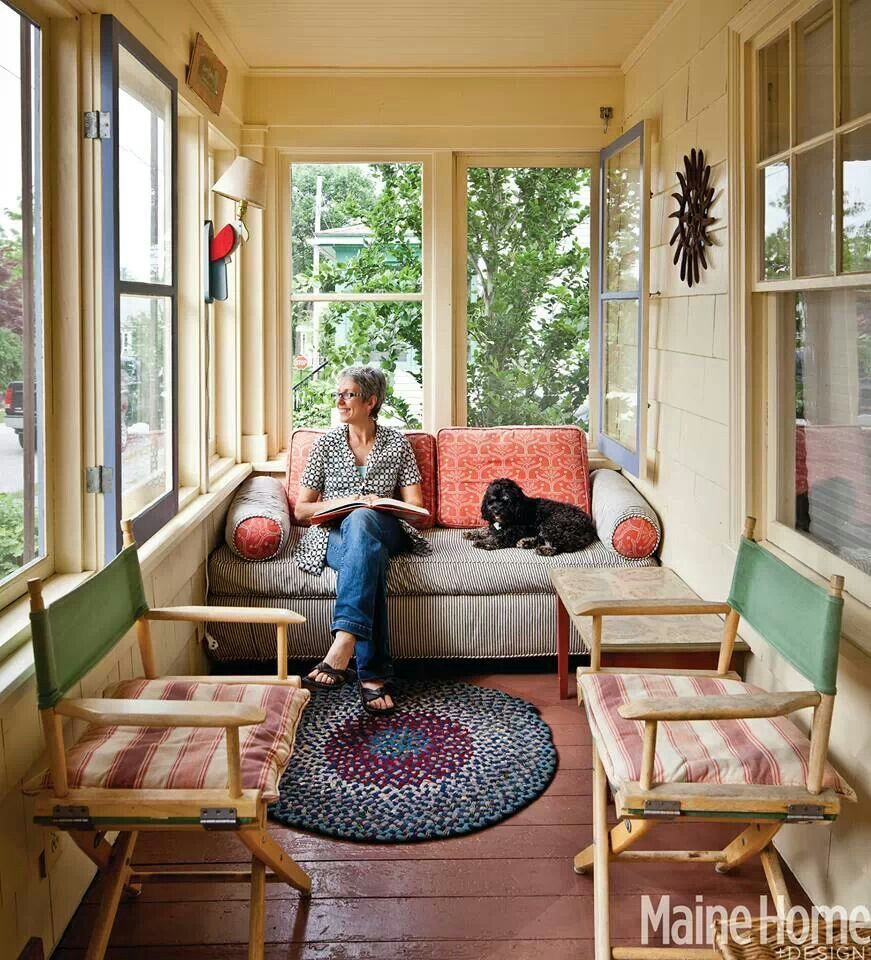 Cozy Space Enclosed Front Porches Sunroom Decorating Small Sunroom