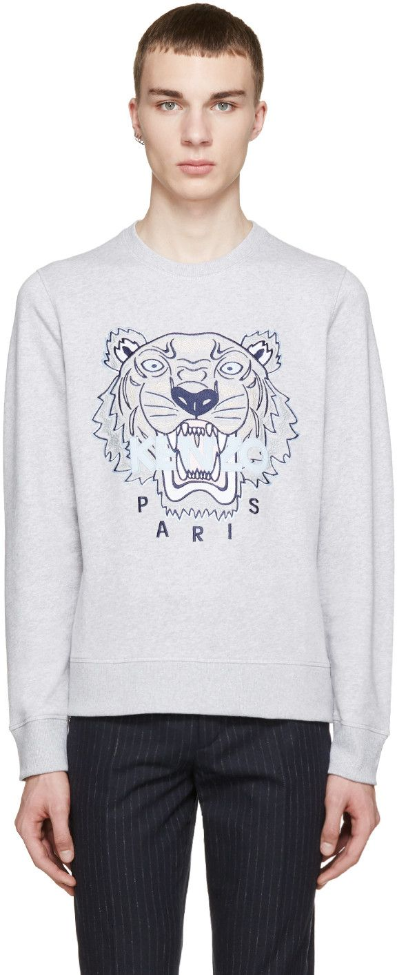 1a8b23ba0 KENZO Ssense Exclusive Grey Tiger Logo Sweatshirt. #kenzo #cloth #sweatshirt