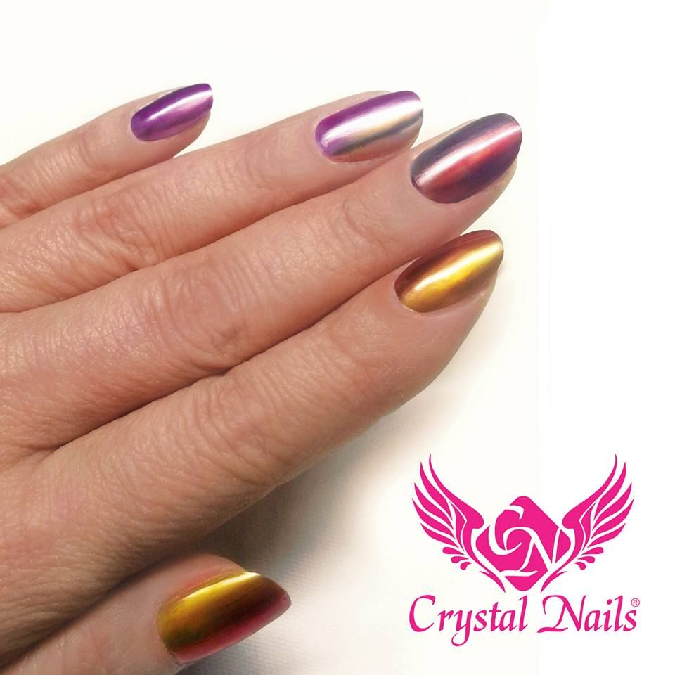 #Ombre #nails With ChroMe CrystaLac (gel-polish) In 12
