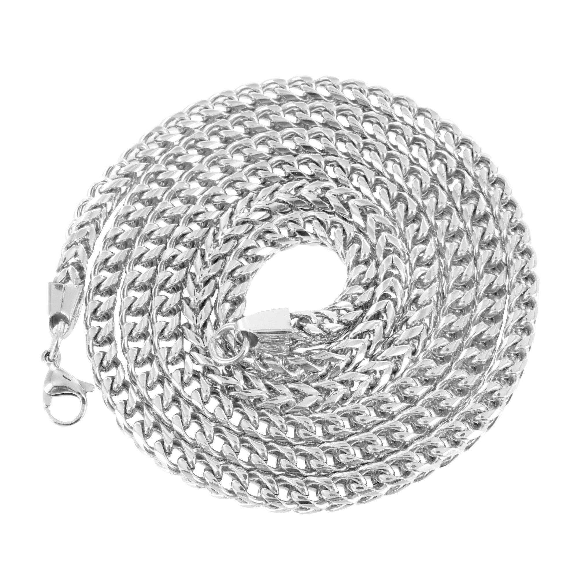 """Mens 34"""" Stainless Steel Franco Chain"""