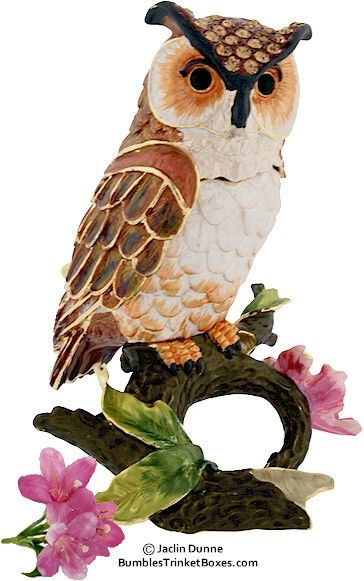 Trinket Box: Owl on a BranchTrinket Box