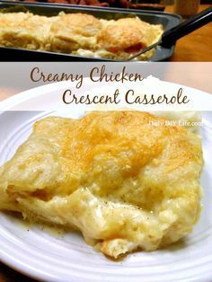 You are going to love this Creamy Chicken Crescent Casserole Recipe! Using homemade Cream of Chicken Soup, juicy white meat chicken and crescent rolls. An easy meal for busy families. Packed with flavor and fully satisfying.