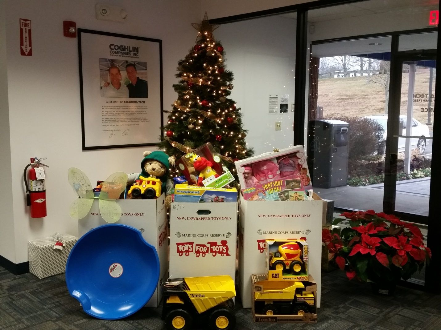 Toys for tots images  THE COGHLIN COMPANIES DONATE TO TOYS FOR TOTS Every year at