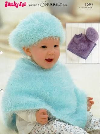 Free Patterns For 8ply Baby Poncho Knitting Google Search