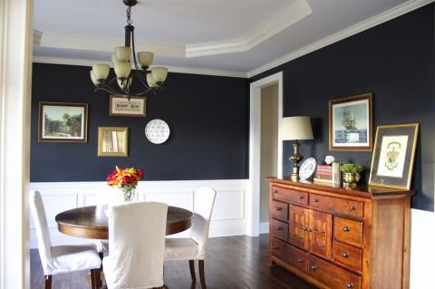 Sherwin Williams Inkwell Navy Dining Room Paint Color Site Full Of Lots