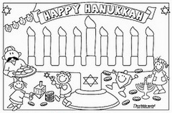Hanukkah Coloring Pages Menorahs Coloring Pages Hanukkah