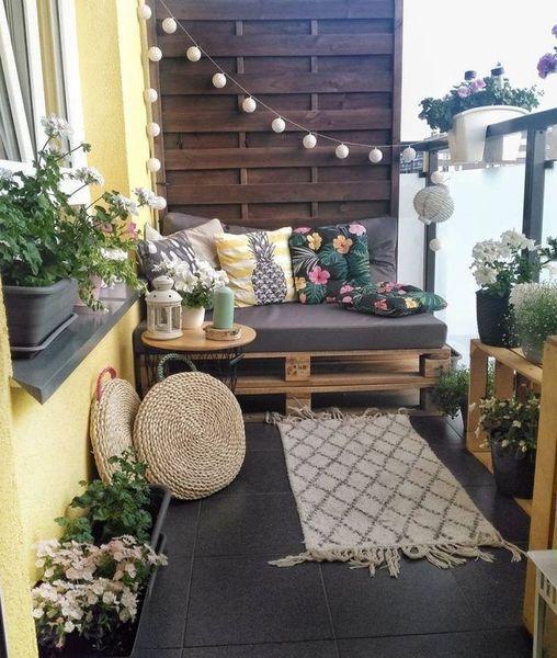 Photo of 30+ Apartment Balkon Design-Ideen für kleine Räume