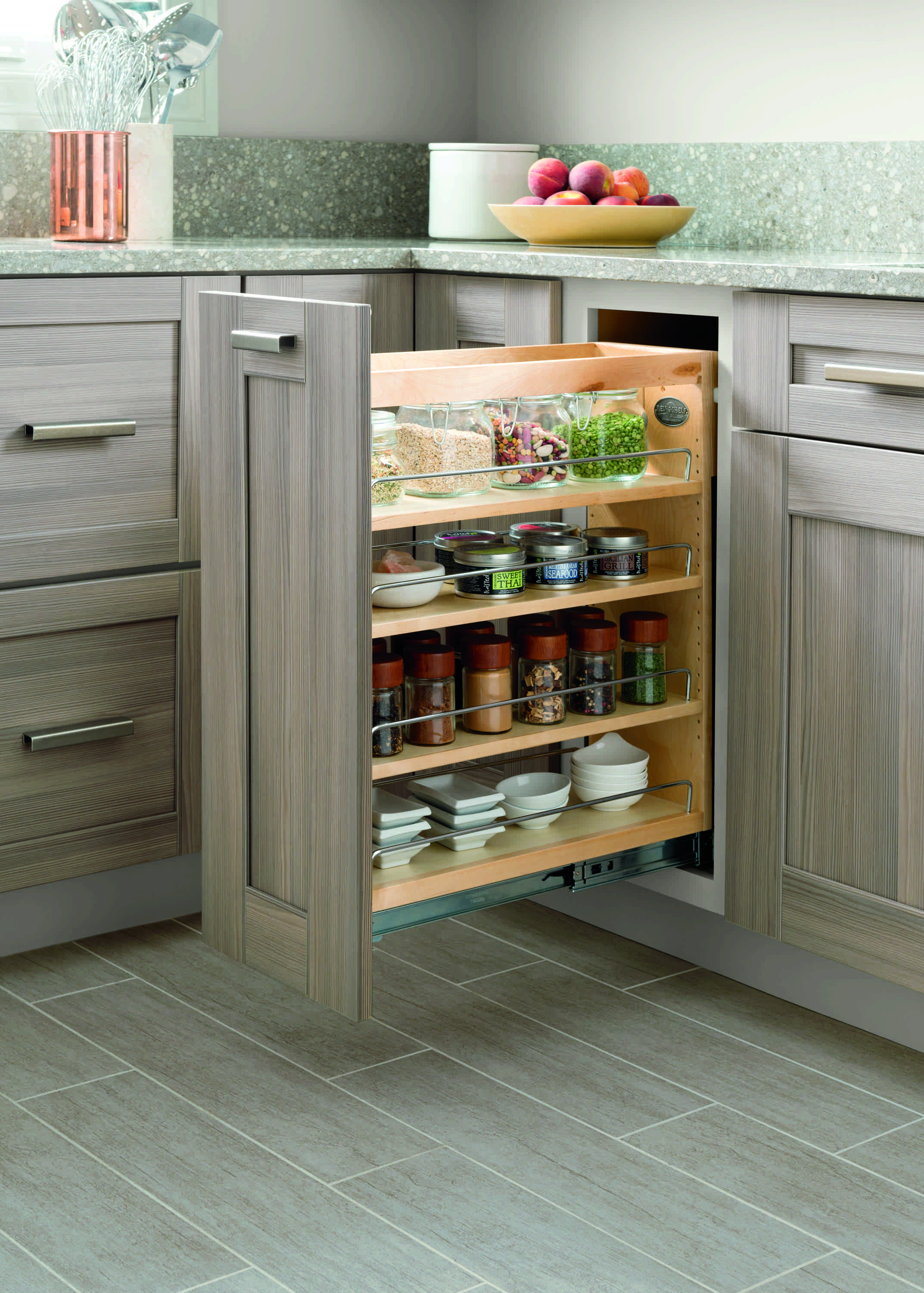 Kitchen Storage Tip Maximize Counter Space By Storing Spices And