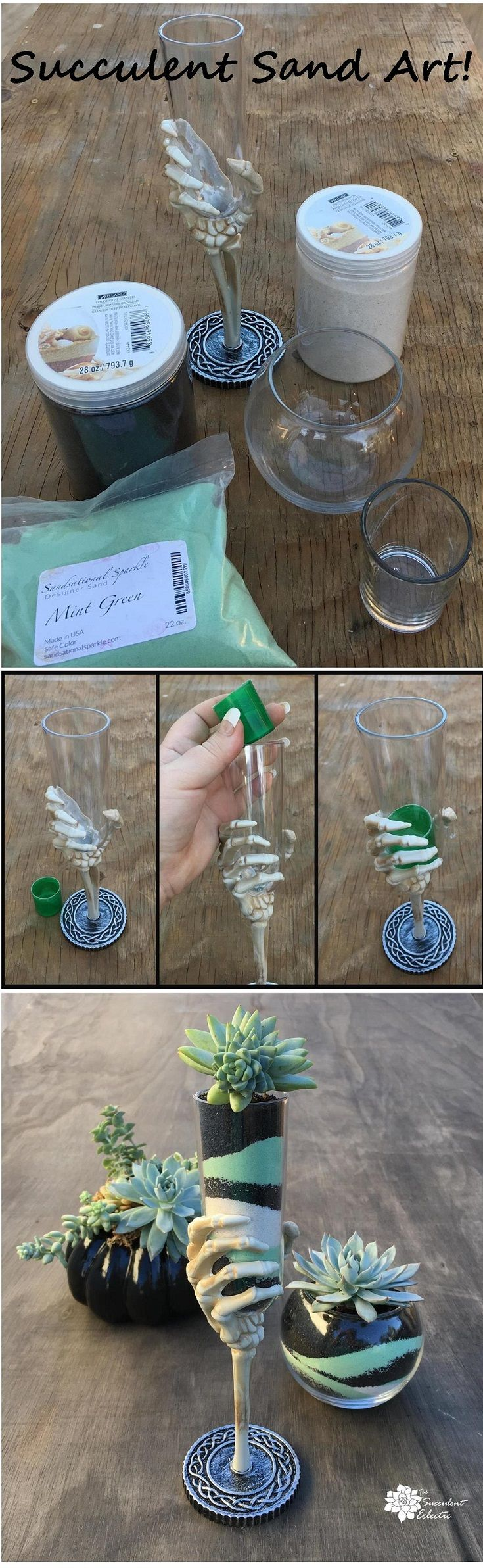 Diy succulent sand art simple way to turn cheap glass container into diy succulent sand art simple way to turn cheap glass container into a ooak beauty simple succulent diys pinterest sand art and cacti solutioingenieria Choice Image