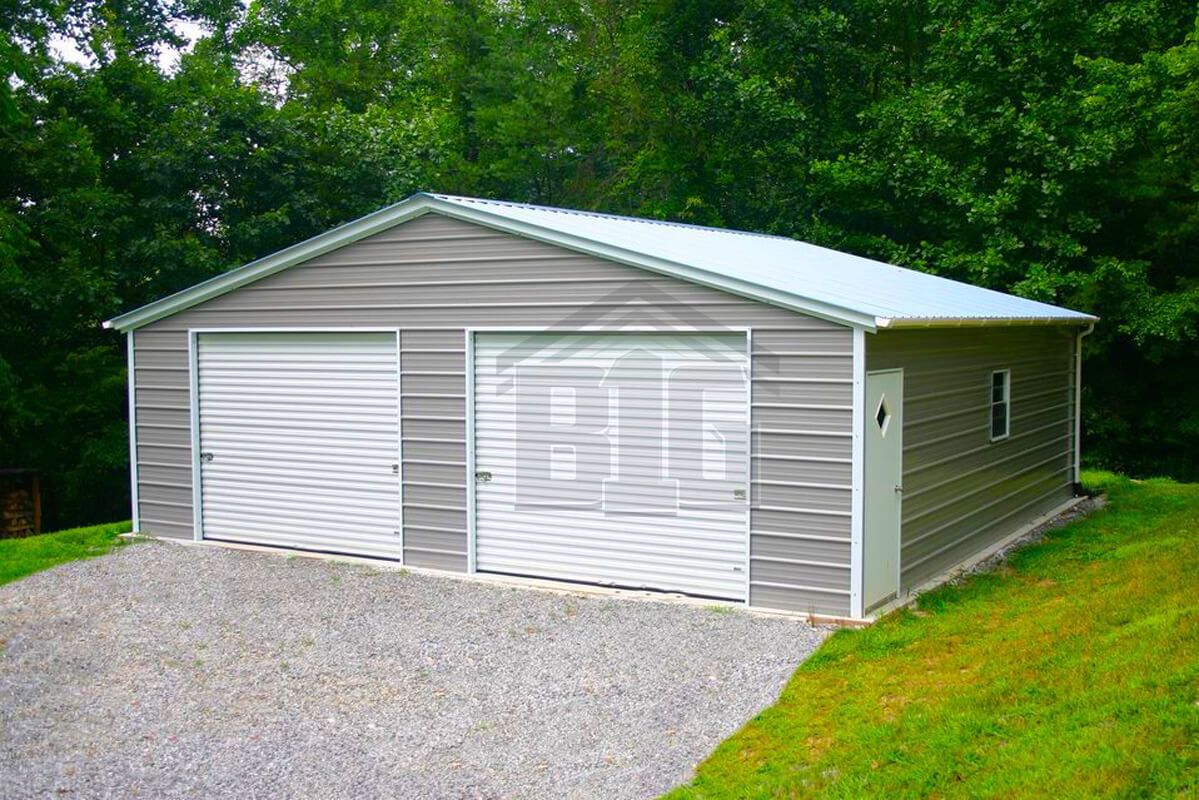 The Belief Garage 20x20x8 Prefab metal garage, Metal