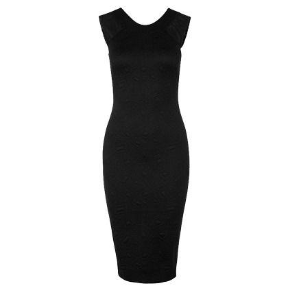 Zakelijke zwarte jurk. Sexy, maar toch netjes gekleed! ♥