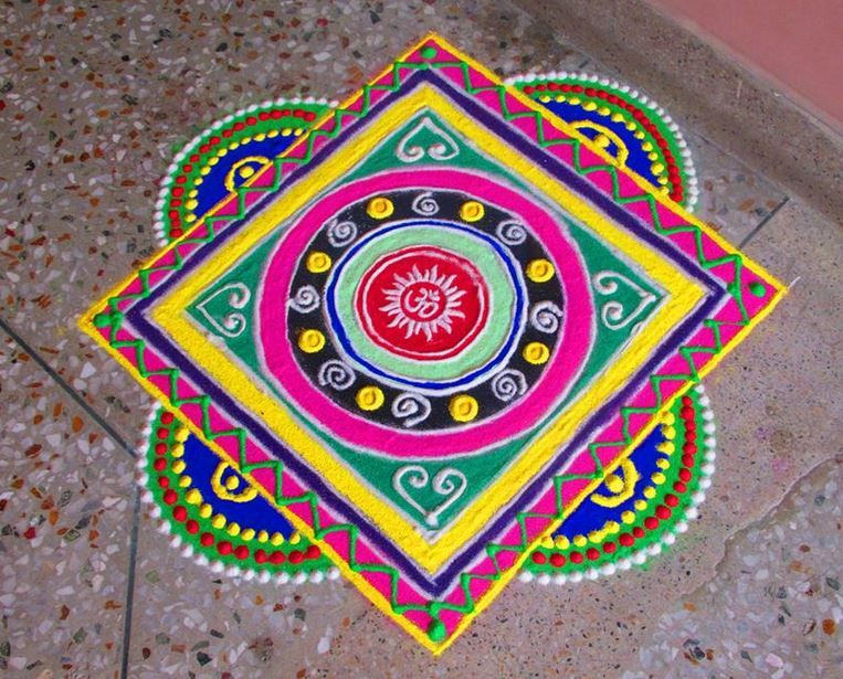 Beau Beautiful And Easy Rangoli Designs For Home