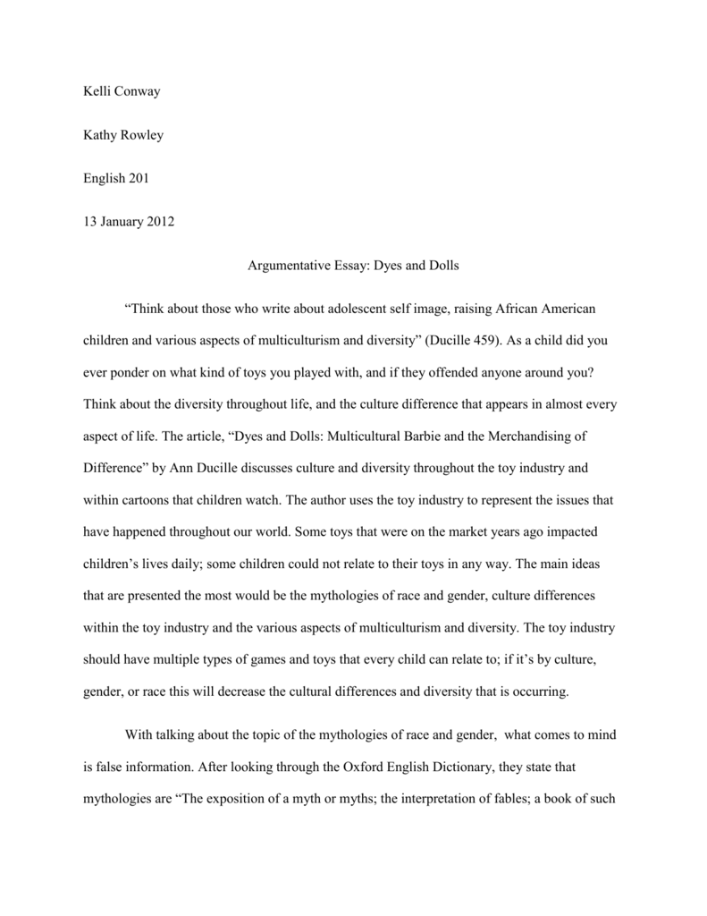 Multicultural Barbie And The Merchandising Of Difference Summary Essay Myself Outline Cultural Personal Hook Encountering