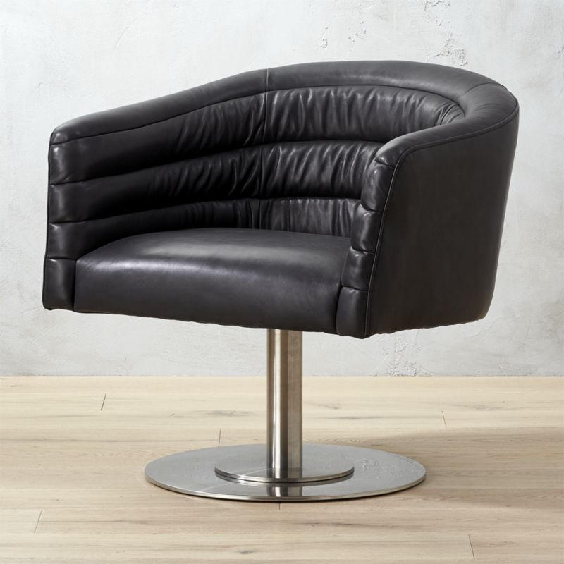 Groovy Shop Cupa Black Leather Swivel Chair Designed By Jannis Ncnpc Chair Design For Home Ncnpcorg